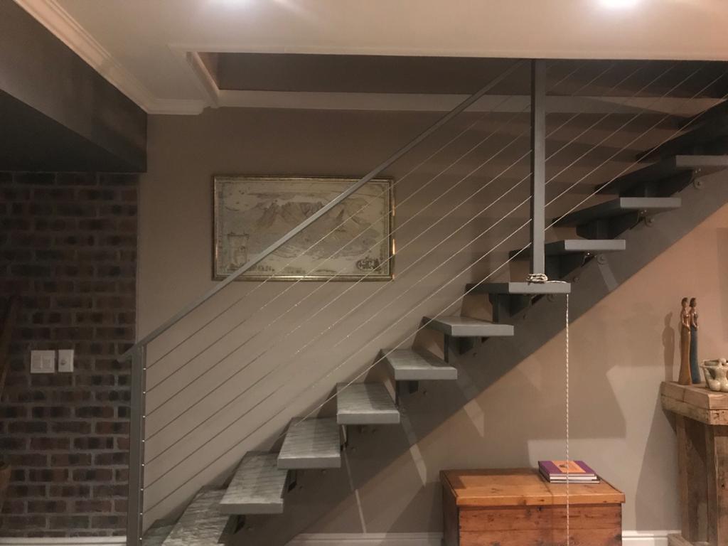 modern industrial look stairway